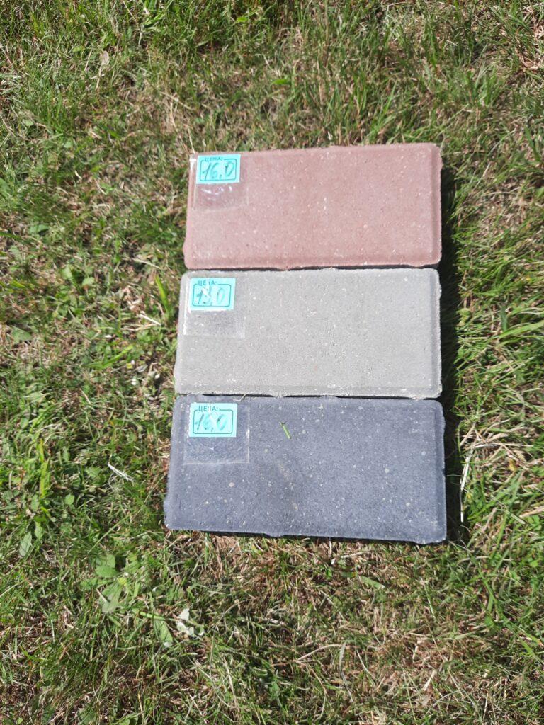 Пример плитки (серая, красная, черная). Приобрести можно на сайте ЭлитБетон
