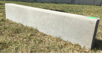 Серый бордюр шириной 1 метр. Купить можно на сайте ЭлитБетон2000