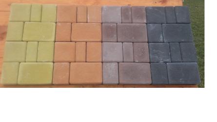 Купить плитку Старый Город в Гродно. В наличии несколько цветов: желтый, оранжевый, красный и черный